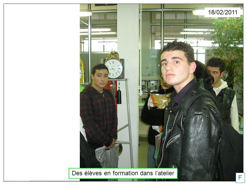 18/02/2011 Des élèves en formation dans latelier F