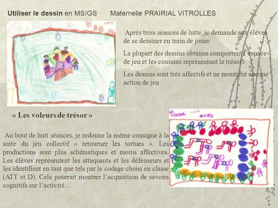 Utiliser le dessin en MS/GS Maternelle PRAIRIAL VITROLLES Après trois séances de lutte, je demande aux élèves de se dessiner en train de jouer. La plu