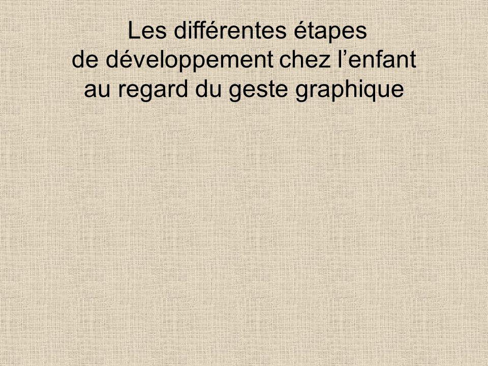 Les différentes étapes de développement chez lenfant au regard du geste graphique
