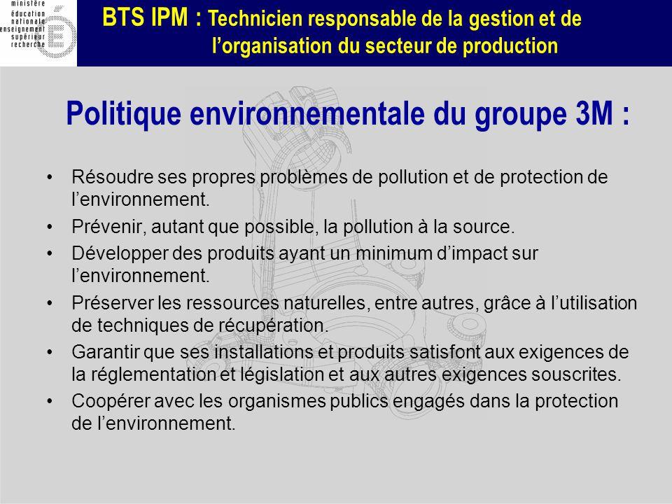 BTS IPM : Technicien responsable de la gestion et de lorganisation du secteur de production Résoudre ses propres problèmes de pollution et de protecti