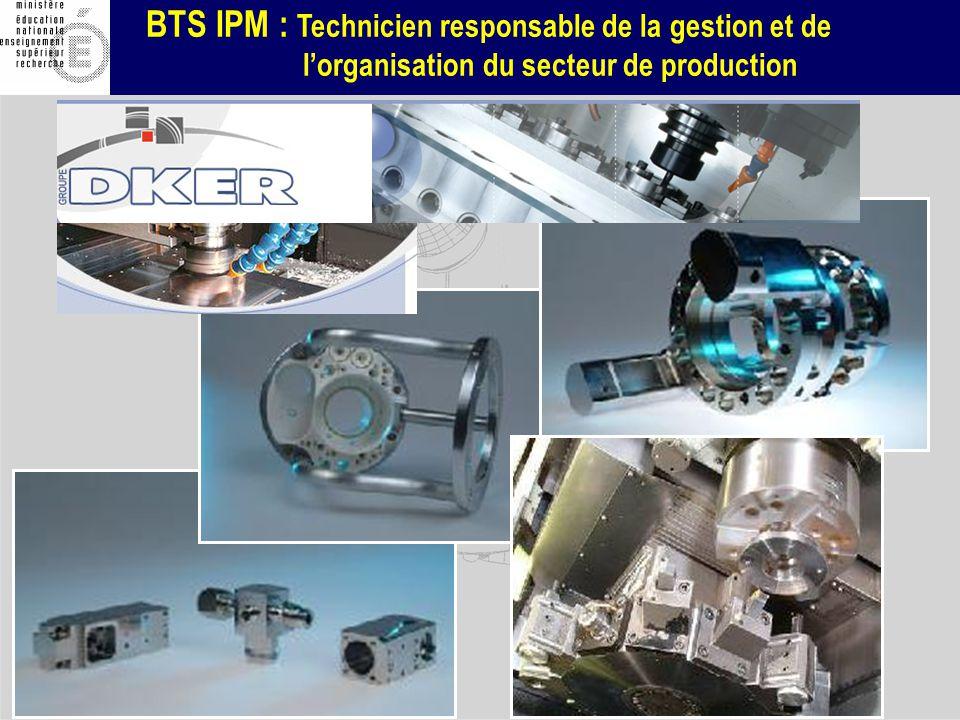BTS IPM : Technicien responsable de la gestion et de lorganisation du secteur de production DIB : déchet industriel banal - DIS : déchet industriel spécial Recyclés et déchets (tonnes)