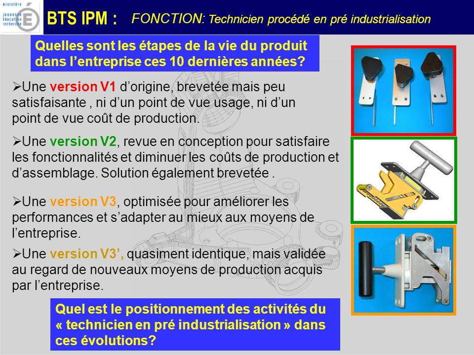 BTS IPM : Quelles sont les étapes de la vie du produit dans lentreprise ces 10 dernières années.
