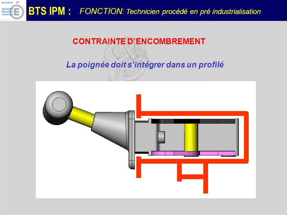 BTS IPM : Dans le cadre dun dialogue avec le concepteur, lactivité du « technicien en pré industrialisation » consiste ici à: faire apparaître les surcoûts de production sur chaque version, à argumenter sur les difficultés techniques résultant de la conception.