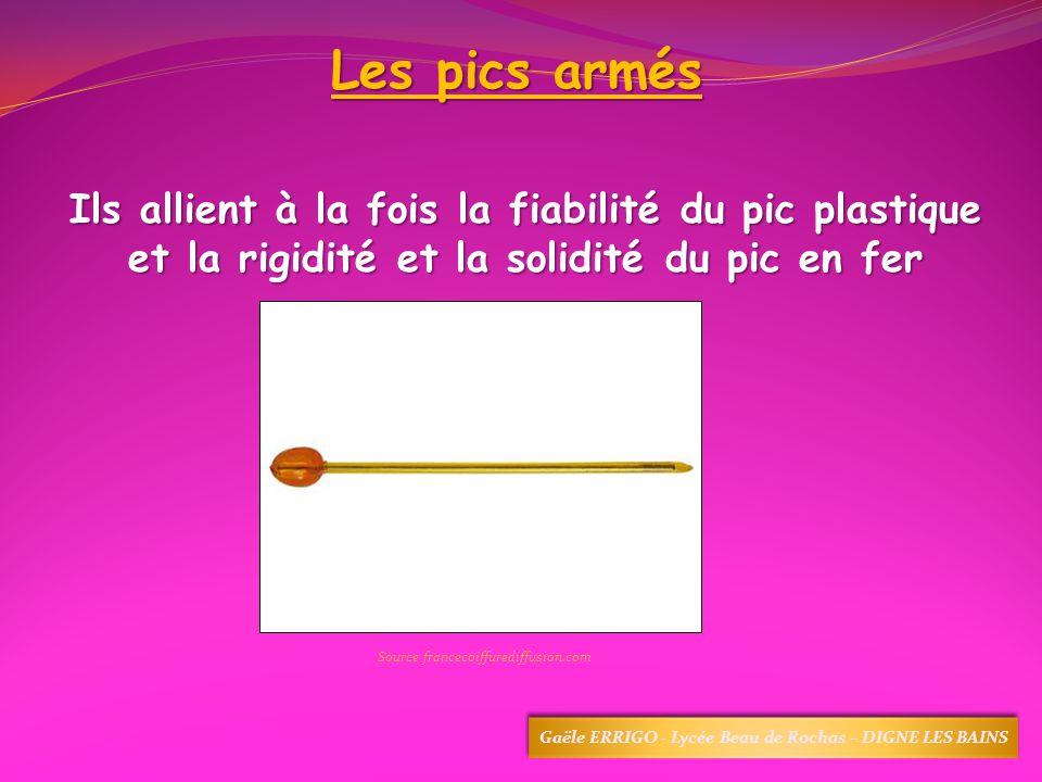 Les pics armés Ils allient à la fois la fiabilité du pic plastique et la rigidité et la solidité du pic en fer Source francecoiffurediffusion.com