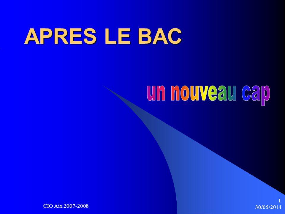 30/05/2014 CIO Aix 2007-2008 1 APRES LE BAC