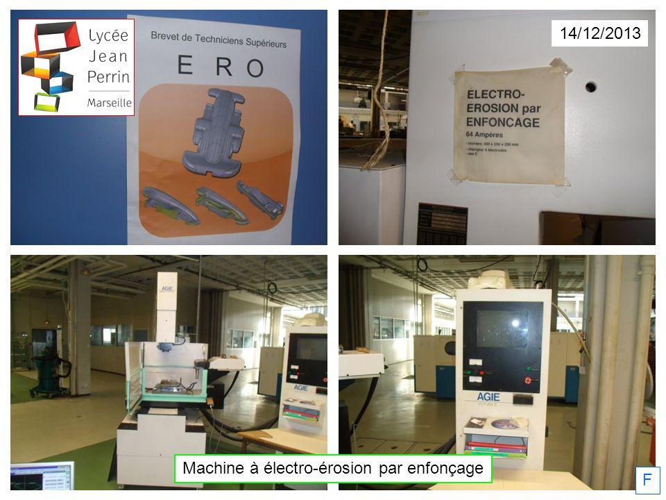 Machine à électro-érosion par enfonçage 14/12/2013 F