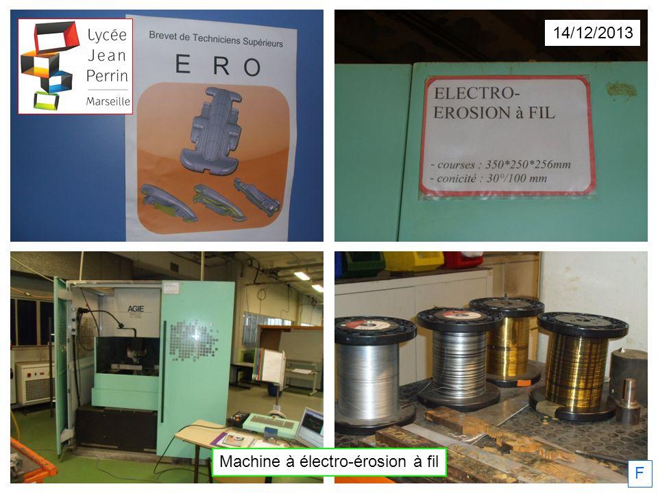 Machine à électro-érosion à fil 14/12/2013 F