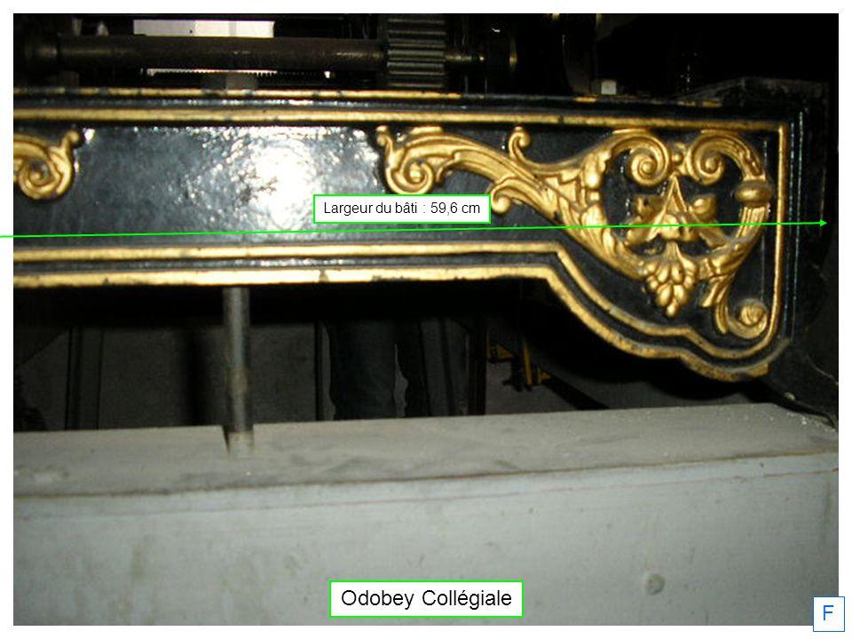 Odobey Collégiale F Largeur du bâti : 59,6 cm