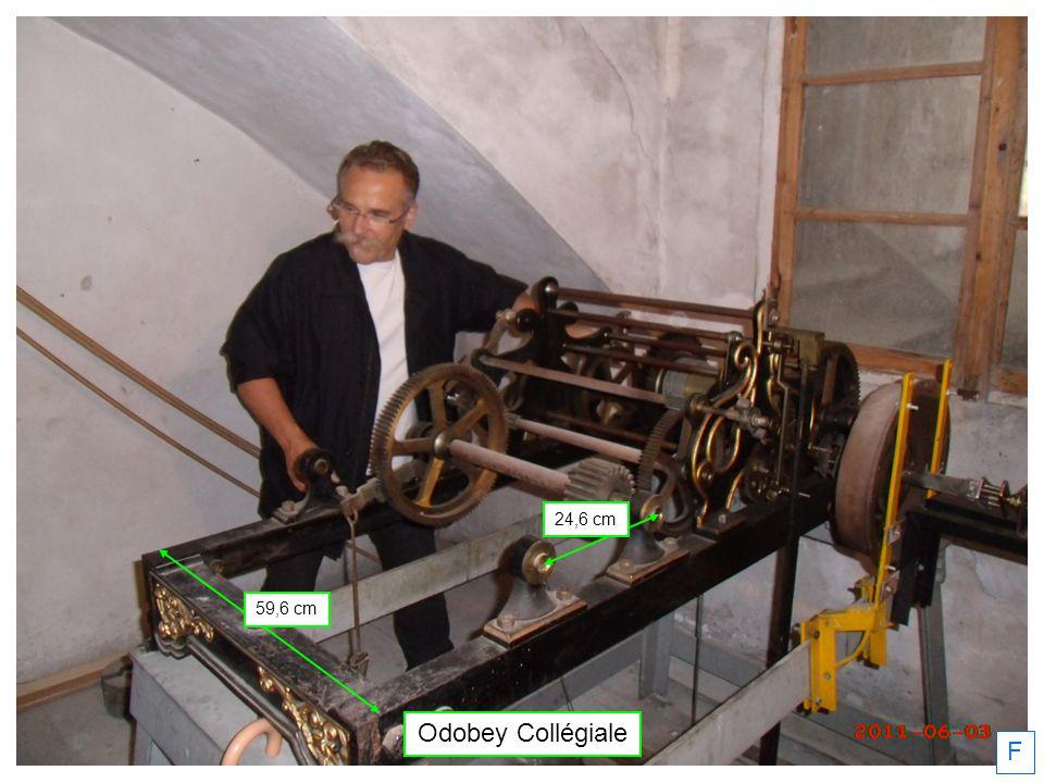 Odobey Collégiale Bord ailette à bord pignon : 35 cm 31 mm 58 mm Bord pignon à bord support : 5 cm F