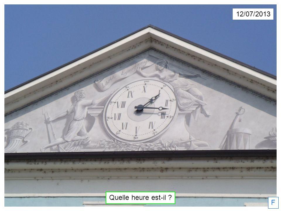12/07/2013 Quelle heure est-il ? F