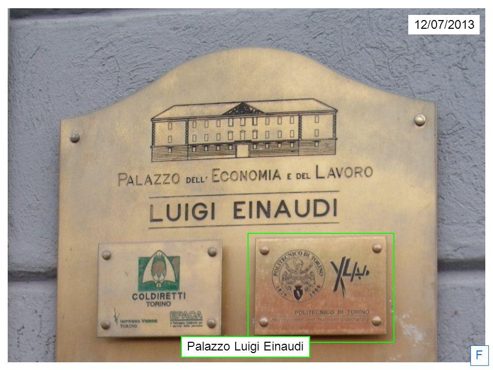 12/07/2013 F Le Palazzo Luigi Einaudi, anciennement caserne Carlo Felice Giordana.