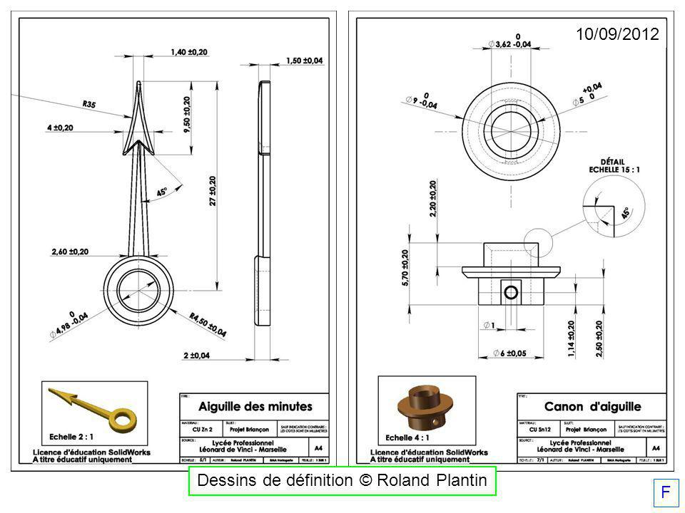 Dessins de définition © Roland Plantin 10/09/2012 F