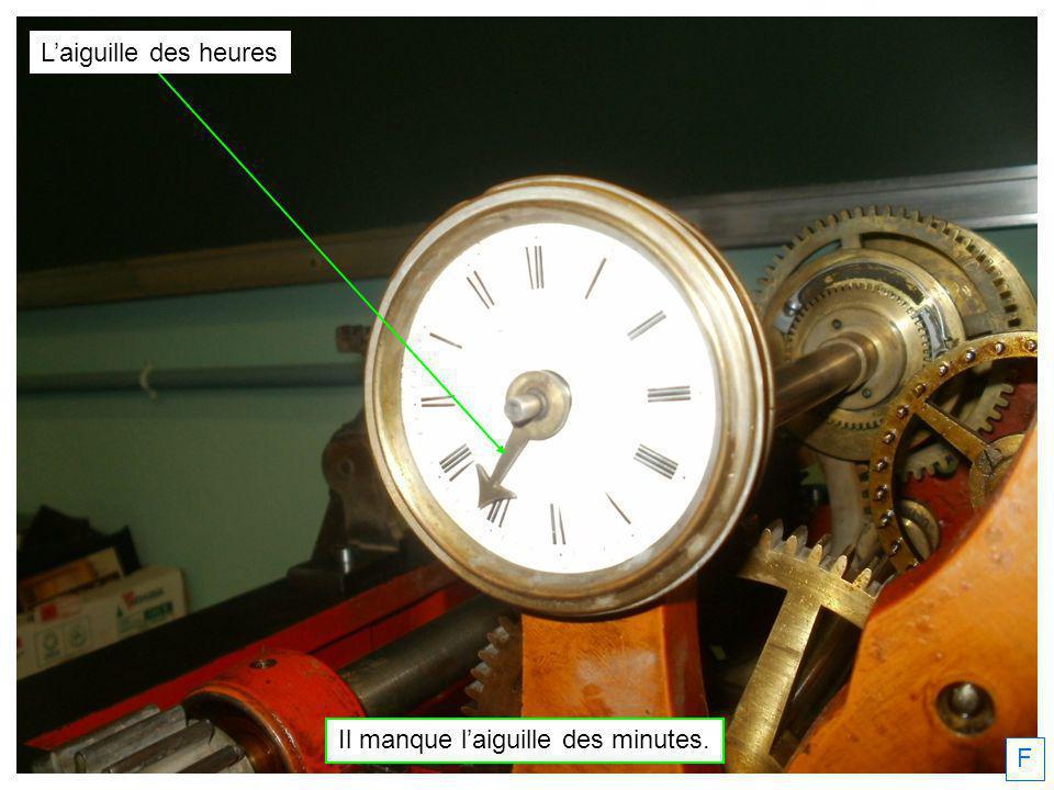 55 : bord du cadran 50 : graduations des minutes Laiguille des minutes tournera entre le 50 et le 55.