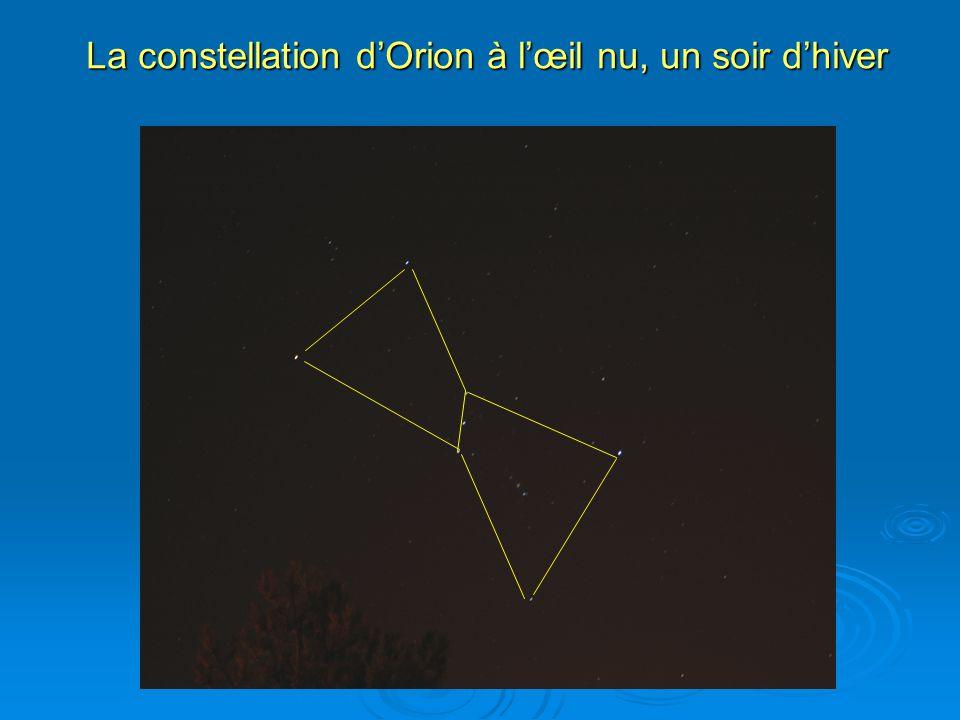 La constellation dOrion à lœil nu, un soir dhiver