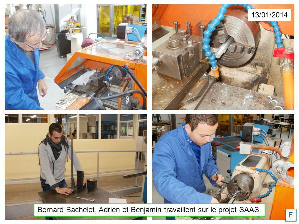 13/01/2014 Bernard Bachelet, Adrien et Benjamin travaillent sur le projet SAAS. F
