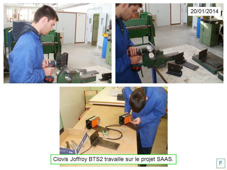 20/01/2014 Clovis Joffroy BTS2 travaille sur le projet SAAS. F