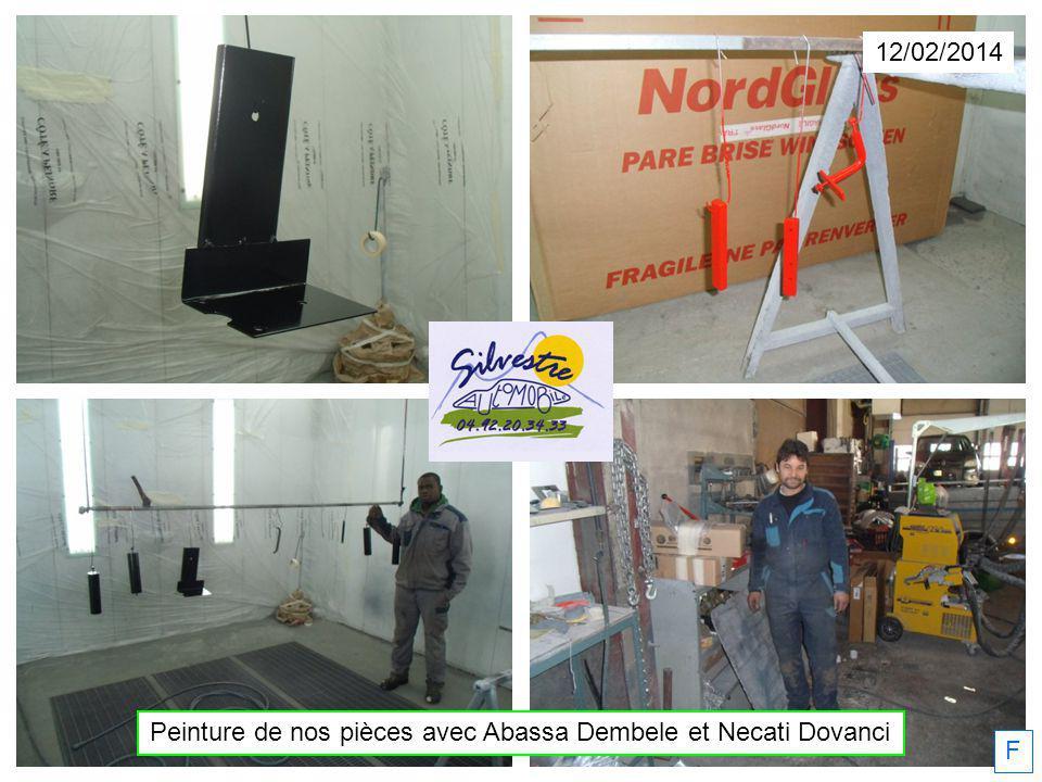 12/02/2014 Peinture de nos pièces avec Abassa Dembele et Necati Dovanci F