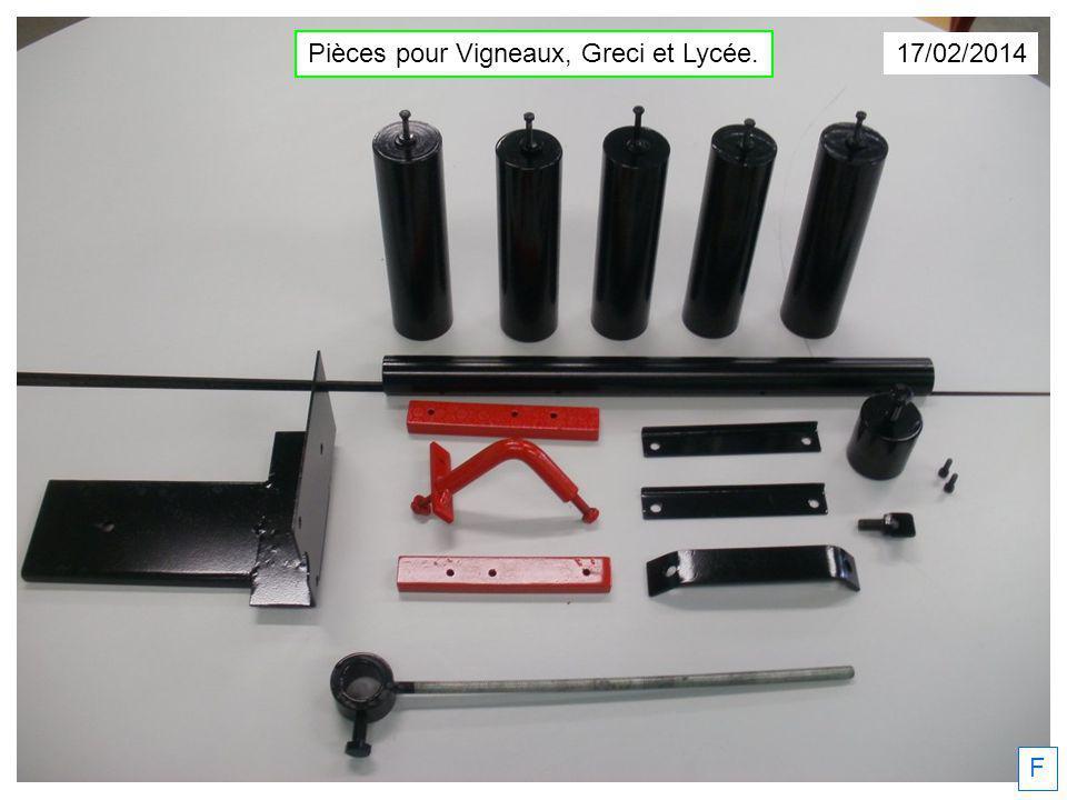17/02/2014 Pièces pour Vigneaux, Greci et Lycée. F