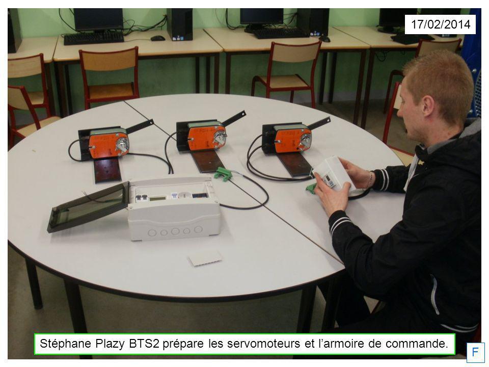 17/02/2014 Stéphane Plazy BTS2 prépare les servomoteurs et larmoire de commande. F