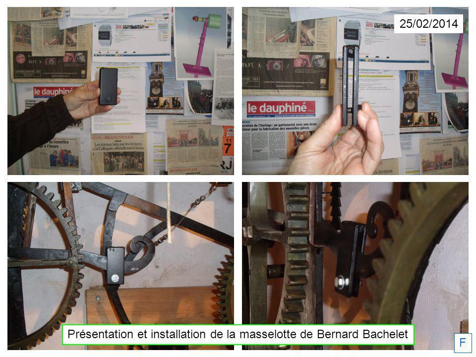 25/02/2014 Présentation et installation de la masselotte de Bernard Bachelet F