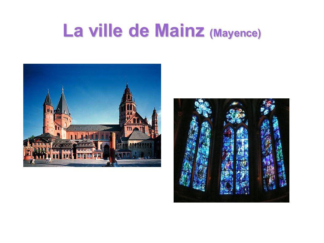 La ville de Mainz (Mayence)