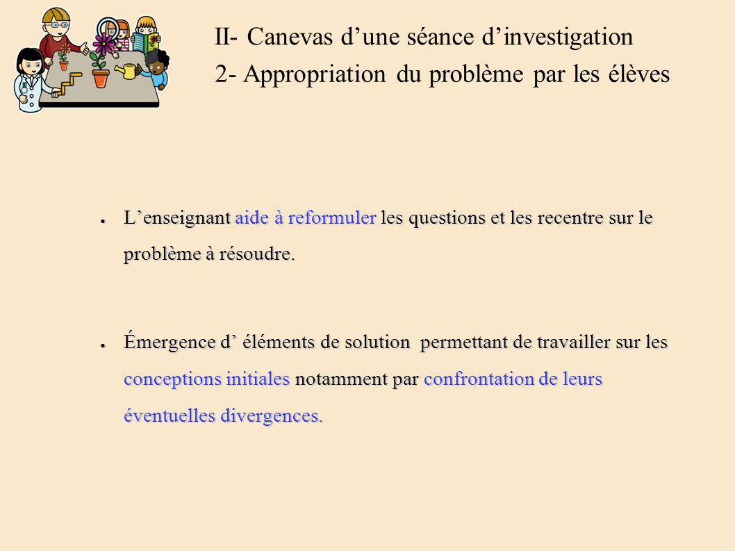 Formulation orale ou écrite de conjectures ou dhypothèses par les élèves (groupes).
