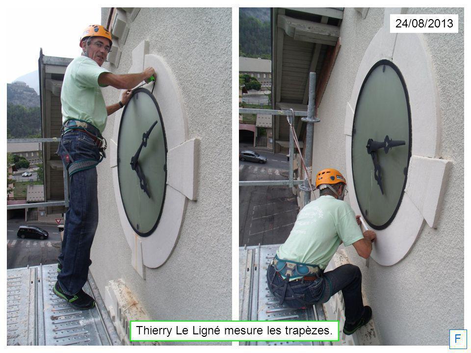 24/08/2013 F Thierry Le Ligné mesure les trapèzes.