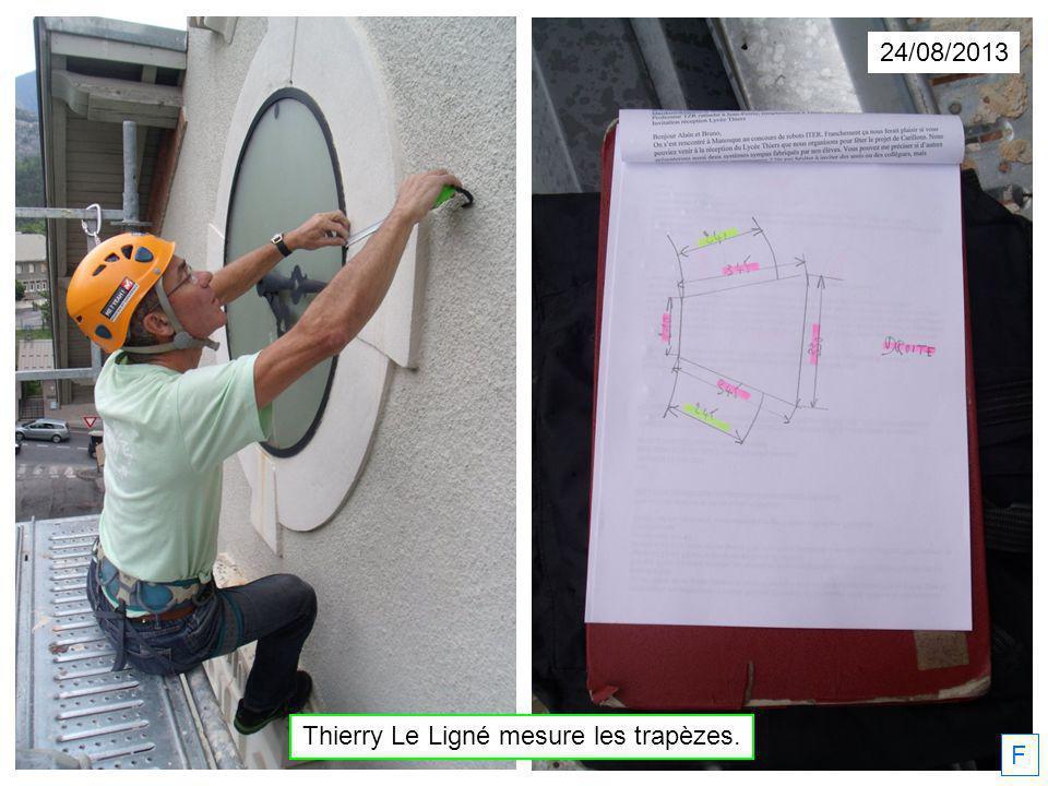 24/08/2013 Thierry Le Ligné mesure les trapèzes. F
