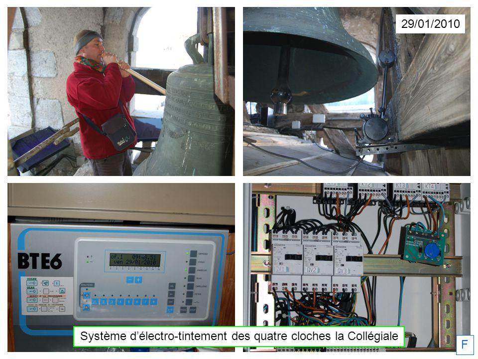 29/01/2010 Système délectro-tintement des quatre cloches la Collégiale F