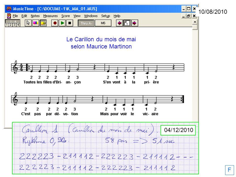 10/08/2010 F 04/12/2010 Le Carillon du mois de mai selon Maurice Martinon
