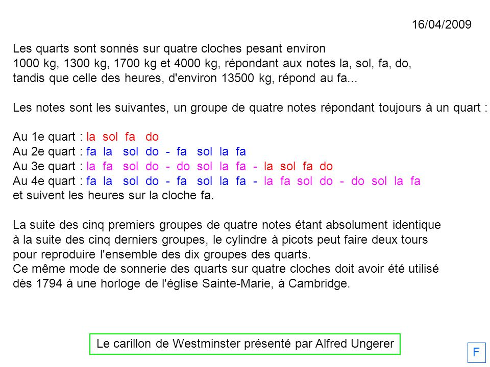 Bulletin de la Société Française de Campanologie, septembre décembre 2011 F