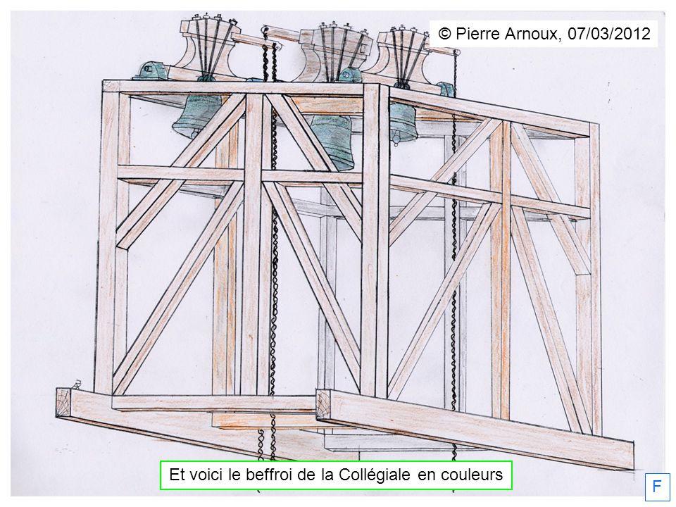 Et voici le beffroi de la Collégiale en couleurs F © Pierre Arnoux, 07/03/2012