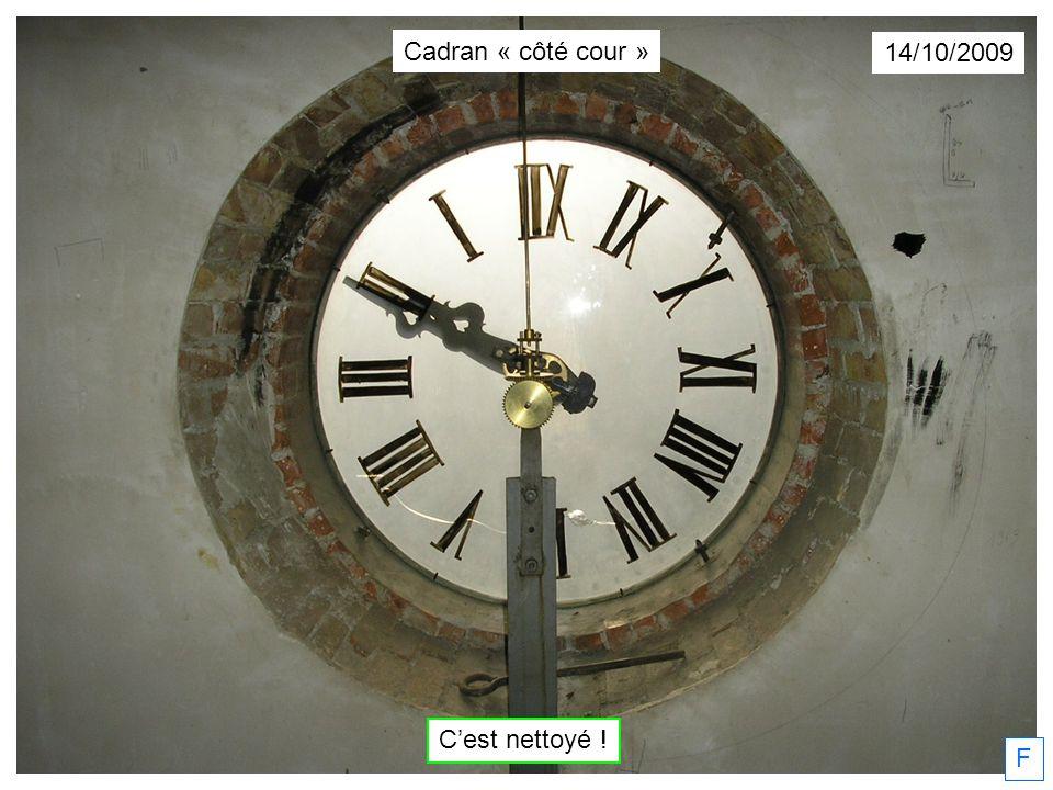F 14/10/2009 Cest nettoyé ! Cadran « côté cour »