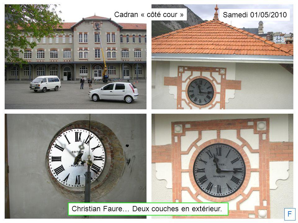 Samedi 01/05/2010 Christian Faure… Deux couches en extérieur. F Cadran « côté cour »