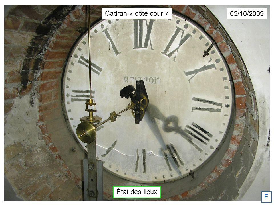 Dimanche 18/10/2009 Christian Faure… Deuxième couche… F Cadran « côté cour »