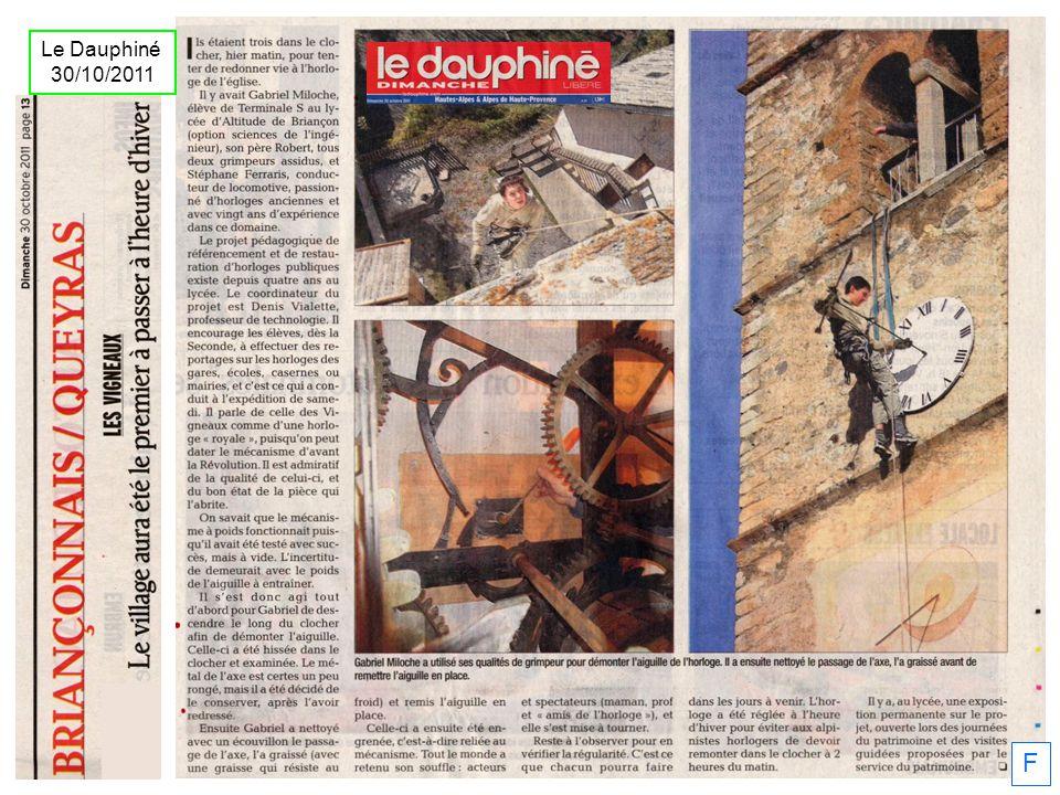 F Le Dauphiné 30/10/2011