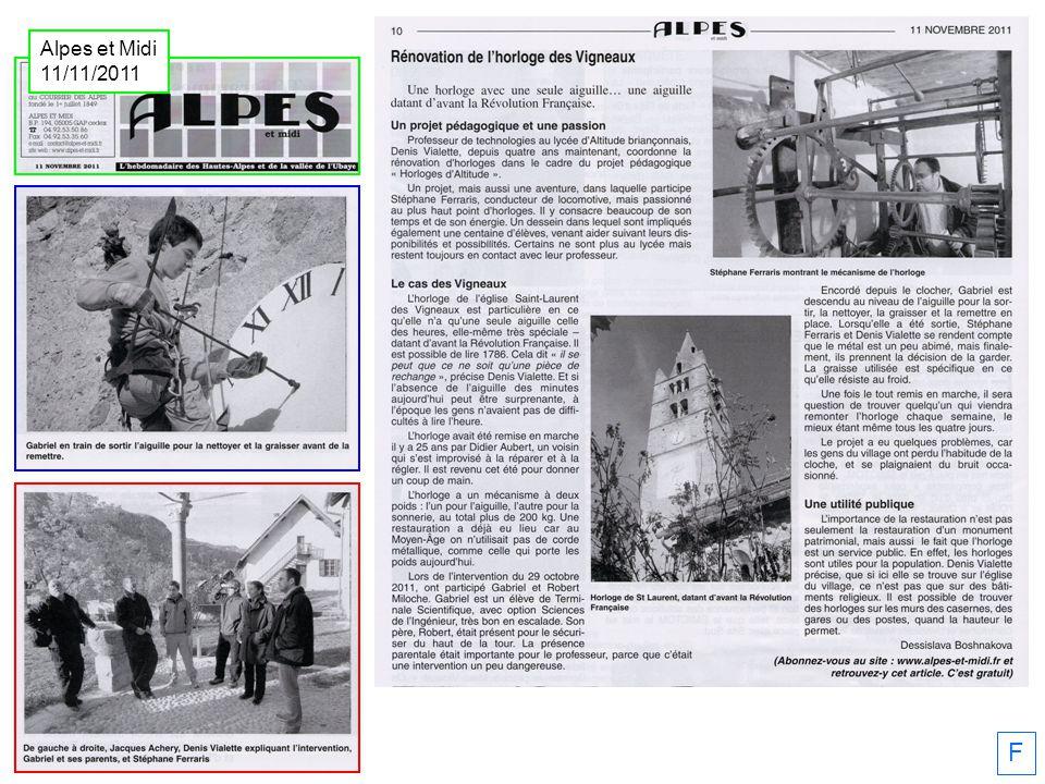 F Alpes et Midi 11/11/2011