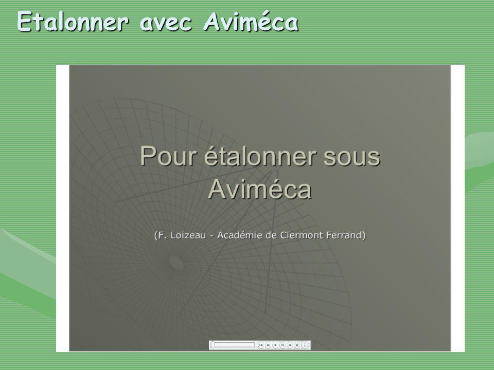 Etalonner avec Aviméca