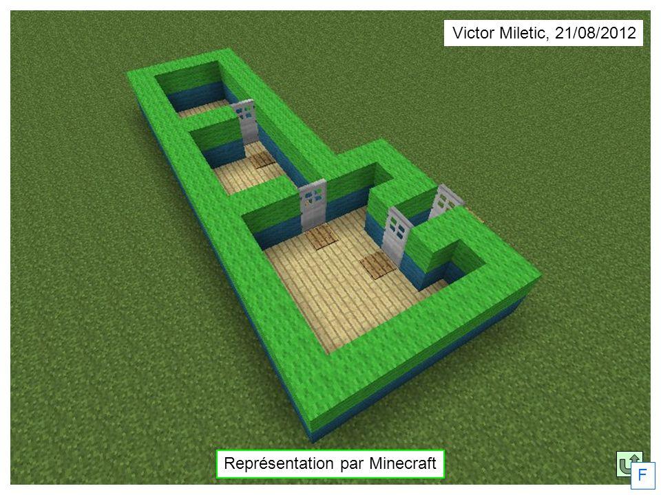 F Victor Miletic, 21/08/2012 Représentation par Minecraft