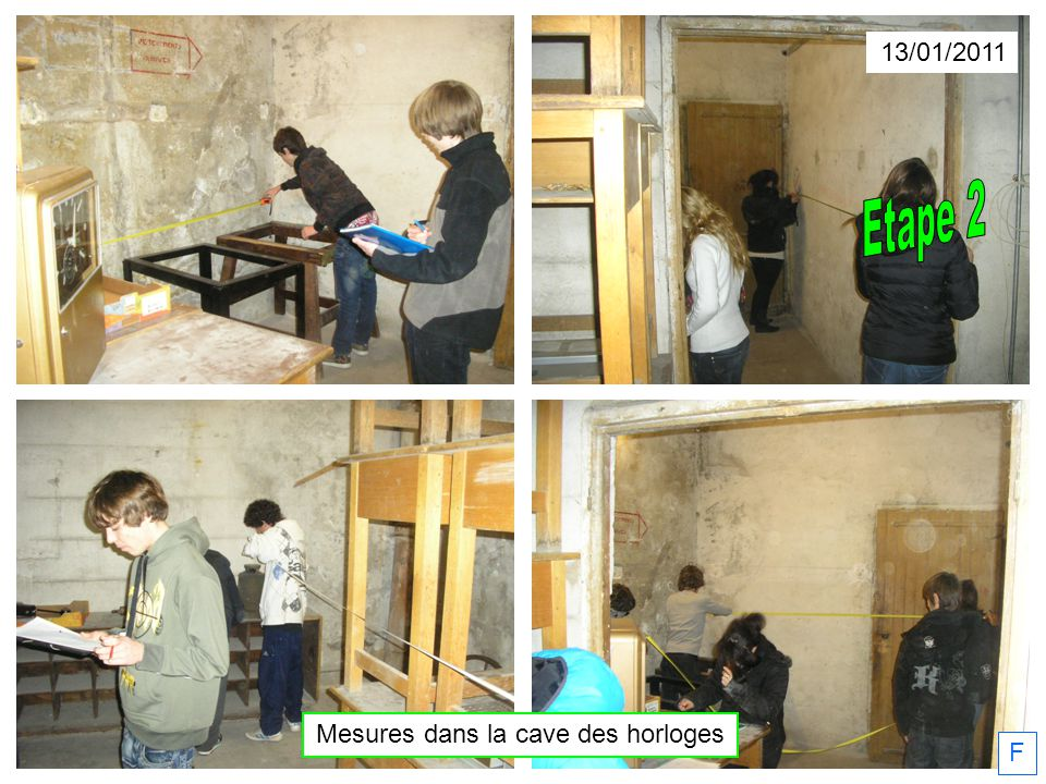13/01/2011 F Mesures dans la cave des horloges
