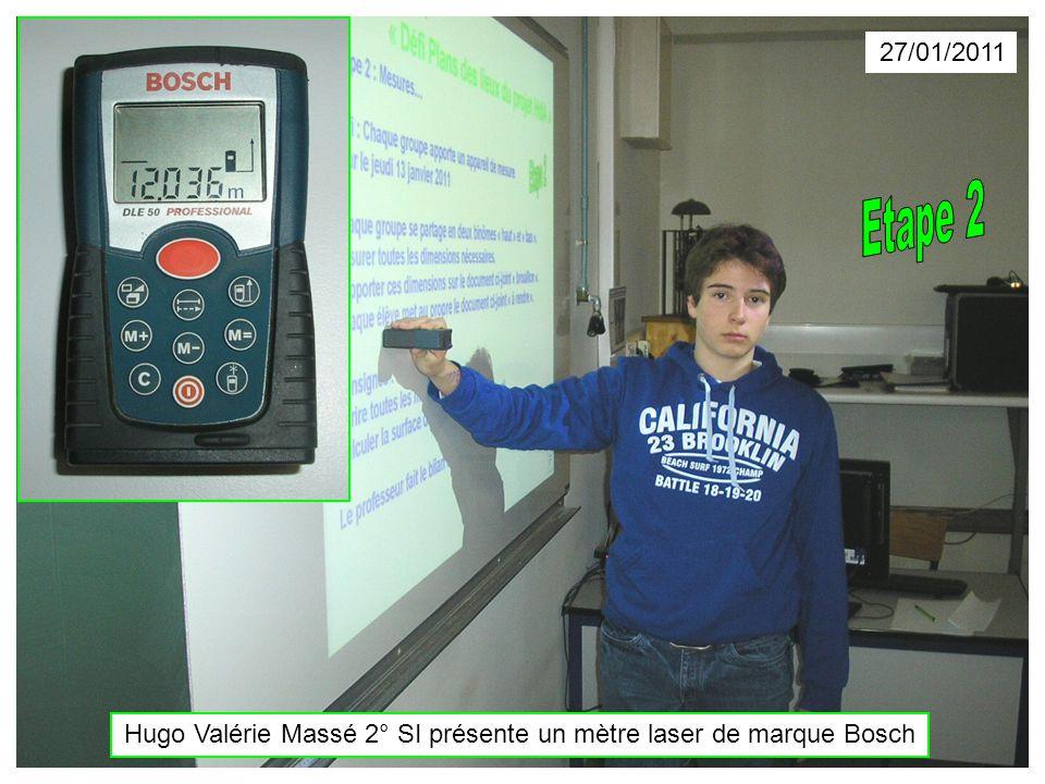 27/01/2011 Hugo Valérie Massé 2° SI présente un mètre laser de marque Bosch