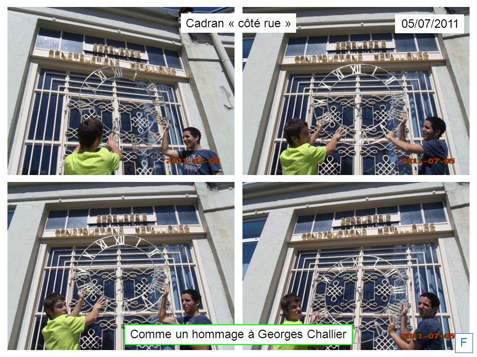 Comme un hommage à Georges Challier 05/07/2011 Cadran « côté rue » F