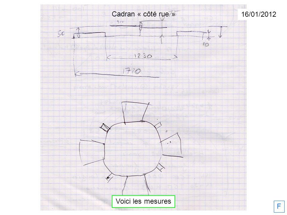 Voici les mesures 16/01/2012 F Cadran « côté rue »