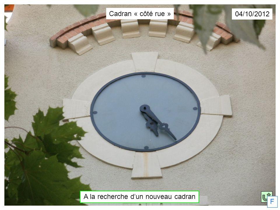 04/10/2012 A la recherche dun nouveau cadran Cadran « côté rue » F