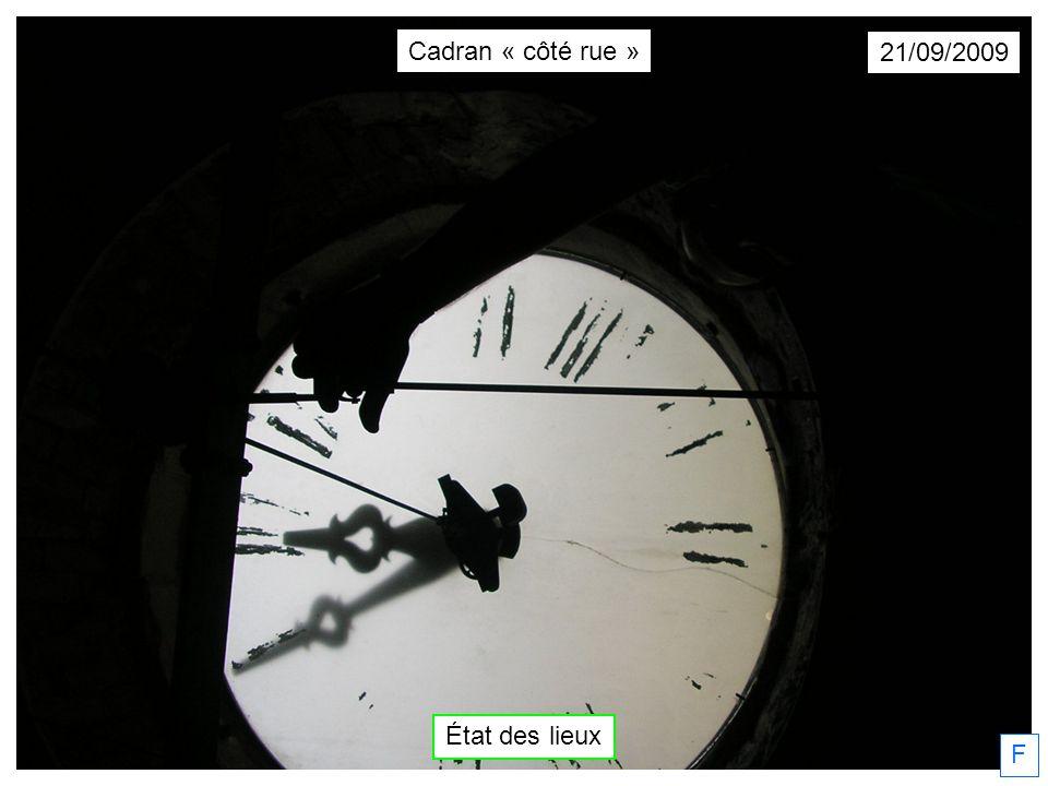 F 24/11/2009 Projet de cadran métallique dessiné par Yves Cordier Cadran « côté rue »