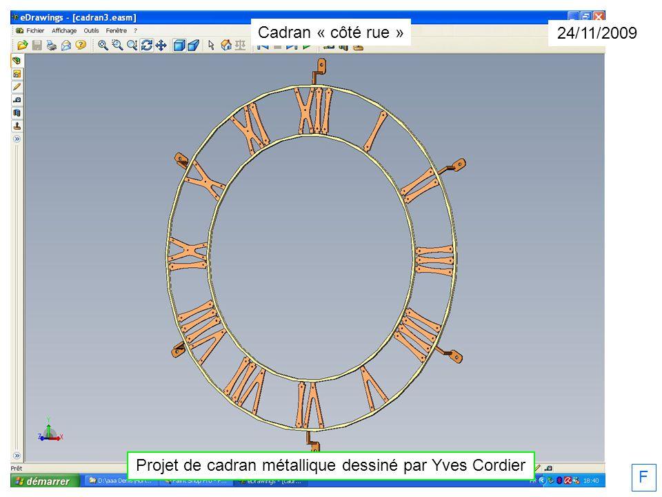 F 24/11/2009 Les montages dusinage Cadran « côté rue »