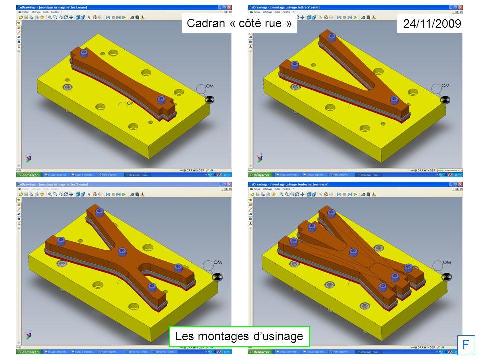 F 2010 Étude et réalisation du cadran métallique par les 2° ISP et Patrick Faucon Cadran « côté rue »