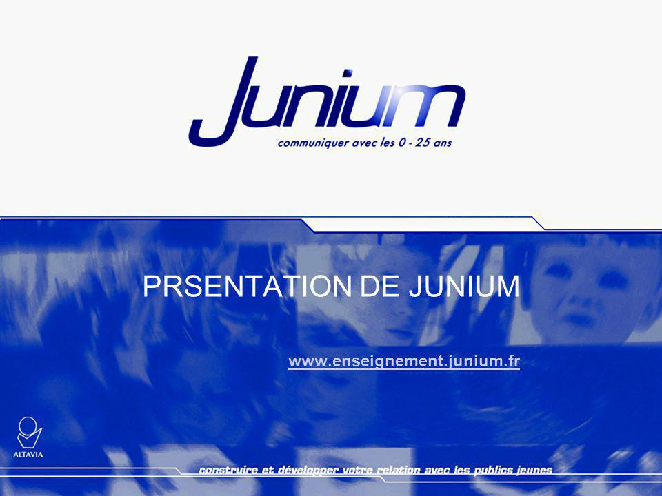 PRSENTATION DE JUNIUM www.enseignement.junium.fr