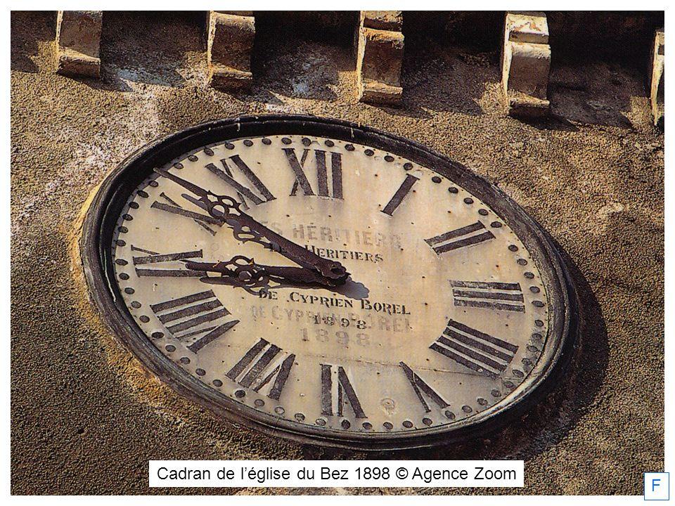 F Cadran de léglise du Bez 1898 © Agence Zoom