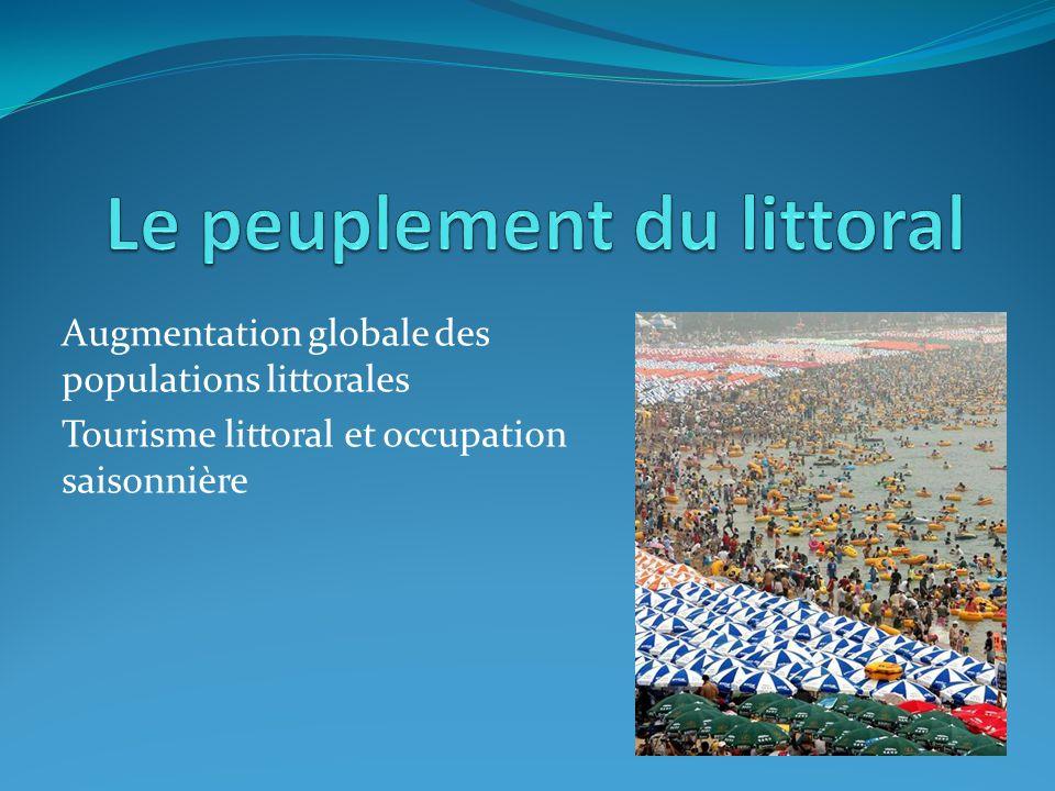 Augmentation globale des populations littorales Tourisme littoral et occupation saisonnière